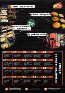 Yemek Lütfen Şubat Öğle Yemeği Menüsü